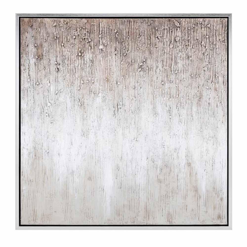 Silver Wall Art Valerie Oil on Canvas Framed