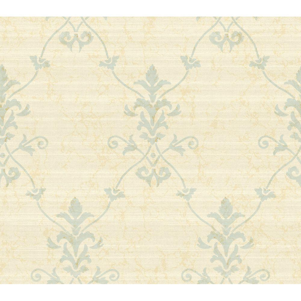 York Wallcoverings 60.75 sq. ft. Large Damask Trellis Wallpaper