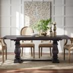 Home Decorators Collection Aldridge Washed Black Rectangular Dining Table