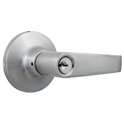 Commercial 2-3/4 in. Satin Chrome Standard Duty Storeroom Lever