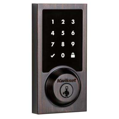 Z-Wave SmartCode 916 Touchscreen Contemporary Single Cylinder Venetian Bronze Electronic Deadbolt Featuring SmartKey