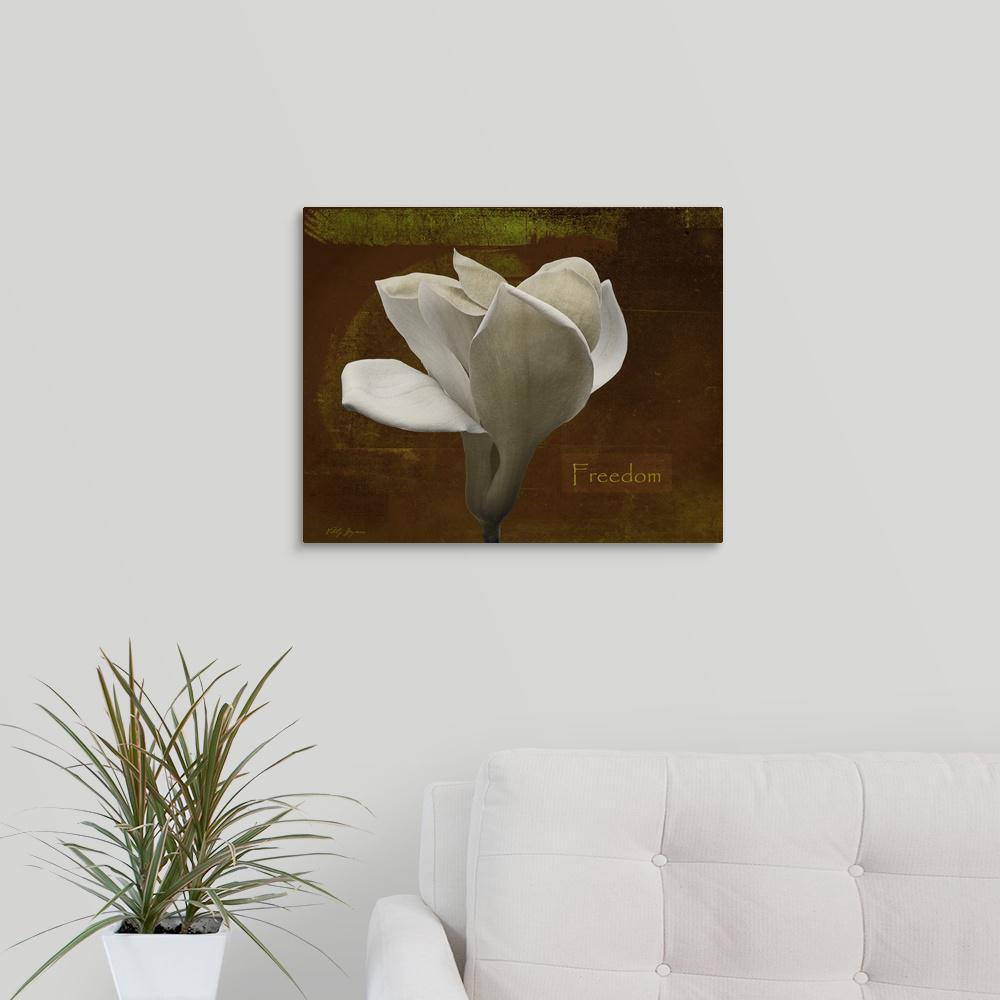 Greatbigcanvas Zen Tulip Freedom By Vitaly Geyman Canvas Wall Art