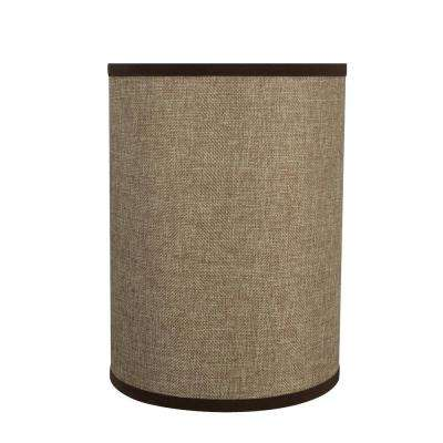 8 in. x 11 in. Straw Yellow Drum/Cylinder Lamp Shade