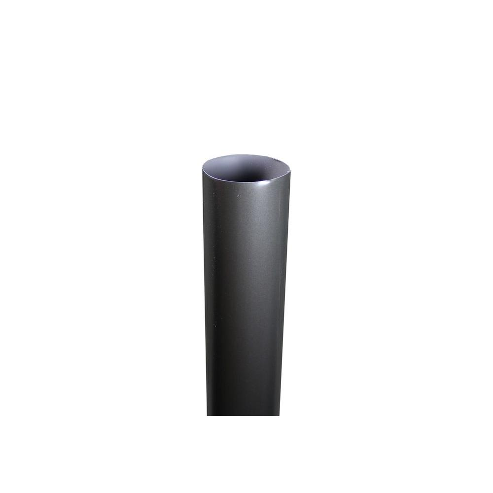 4 in. x 10 ft. Round Bronze Downpipe