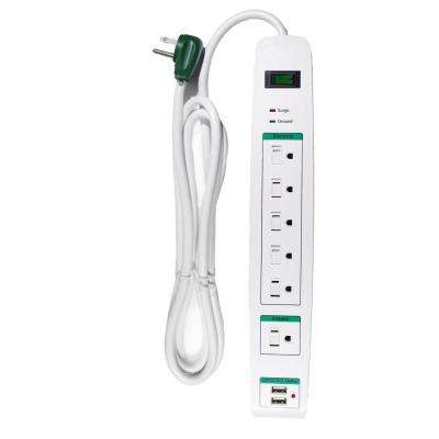 6 Outlet Surge Protector w/ 6 ft. Heavy Duty Cord