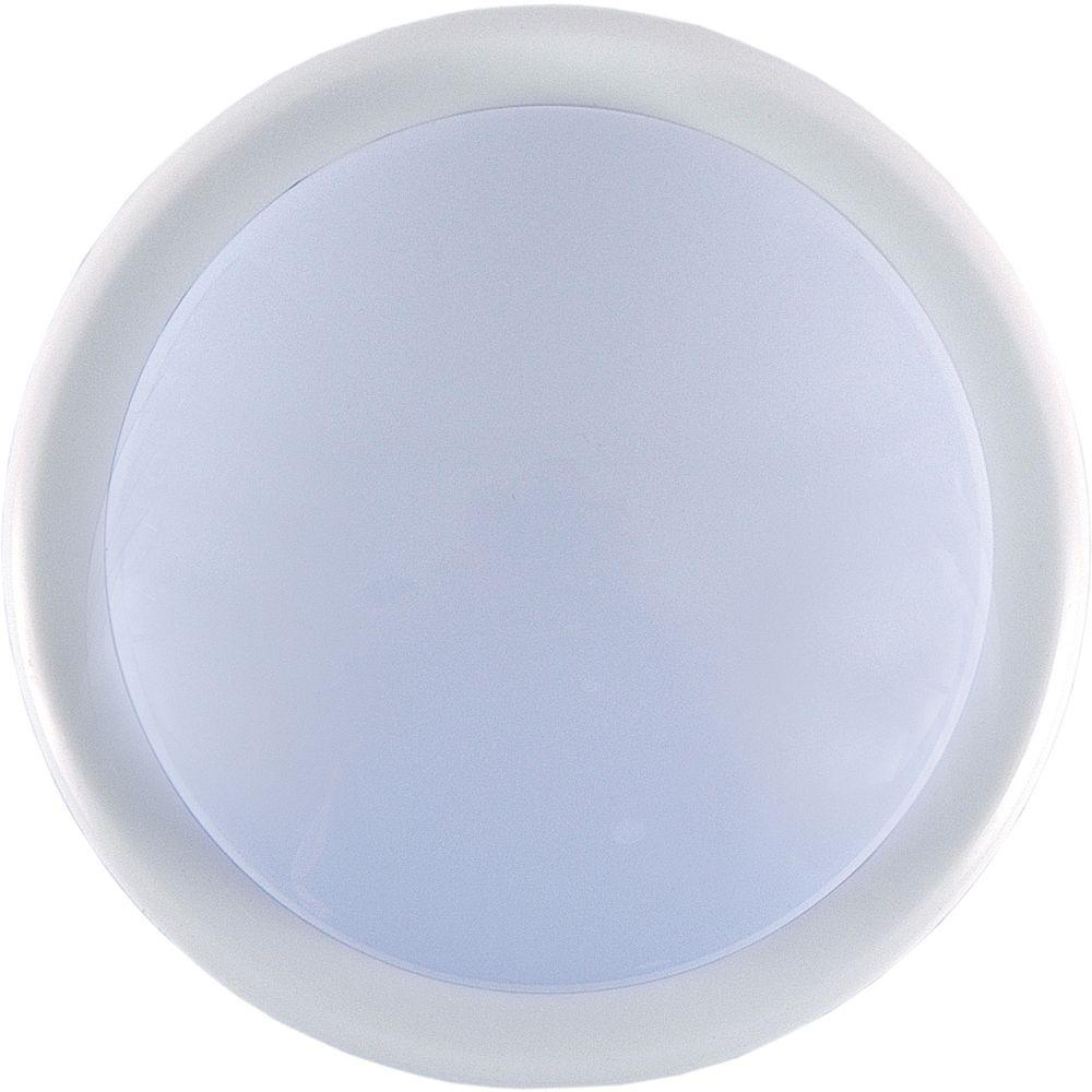 Charmant GE 1 Light White Battery Operated Round Mini Tap Light