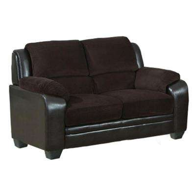 Barton Chocolate Brown Corduroy Loveseat