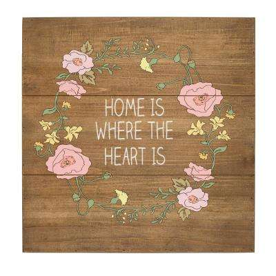 Home is Where the Heart Is Rustic Wooden Wall Art