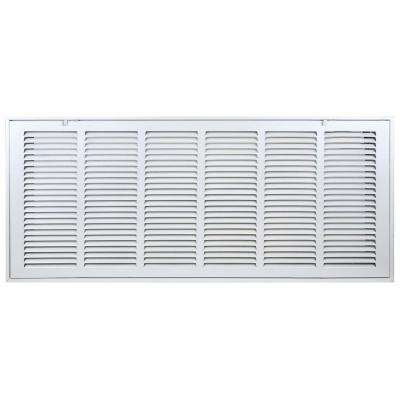 30 in. x 10 in.Return Air Filter Grille in White