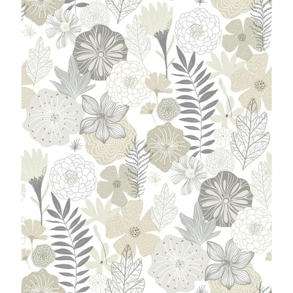 RoomMates 28.18 sq. ft. Perennial Blooms Peel and Stick Wallpaper RMK11326WP