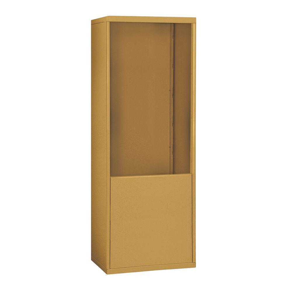 19900 Series 30.5 in. W x 66.5 in. H x 9.25 in. D for 19078-24 R-Mounted Cell Phone Enclosure in Gold,  Bronze