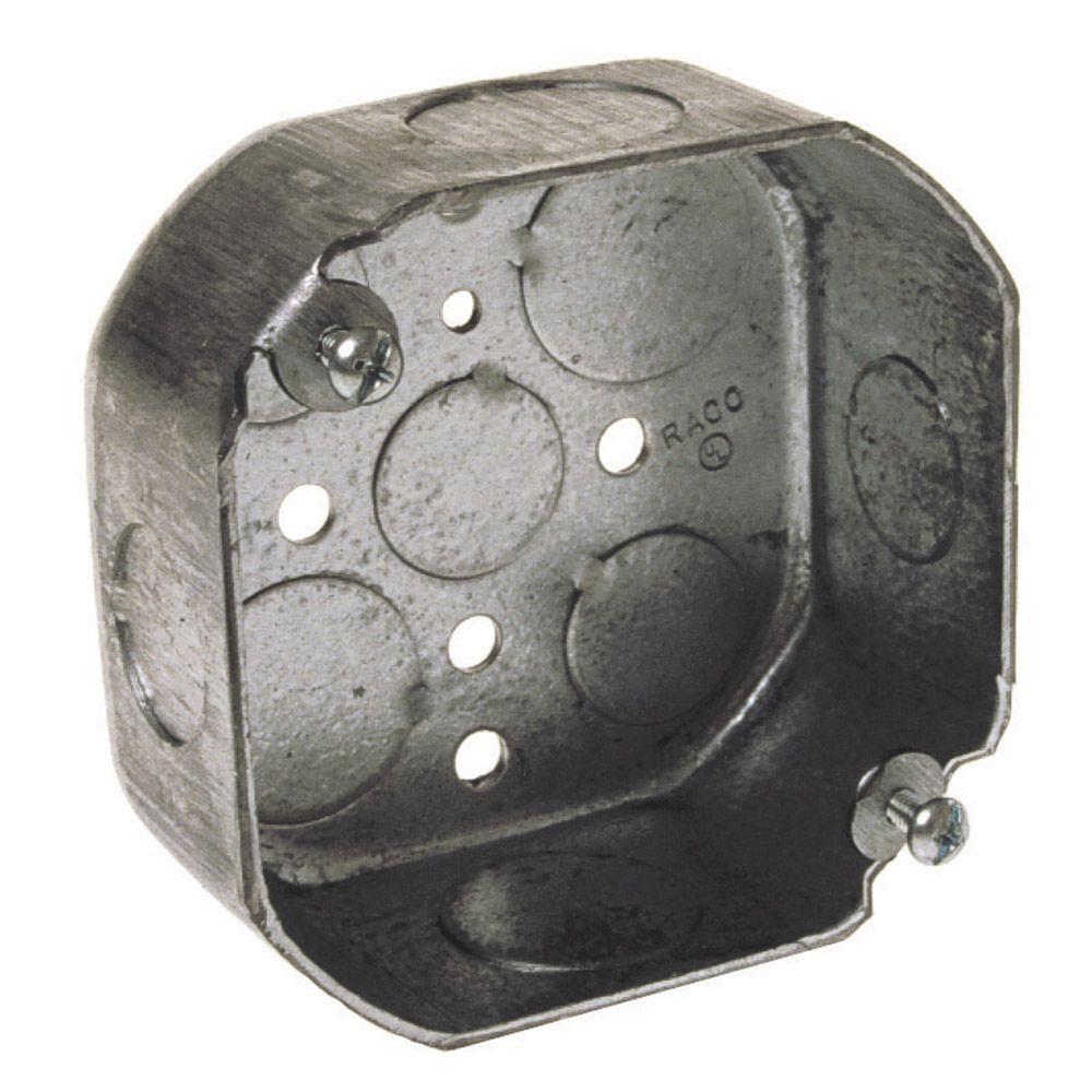 1-1/2 in. Deep, 15.5 cu. in., 4 in. Octagon Box (25-Pack)