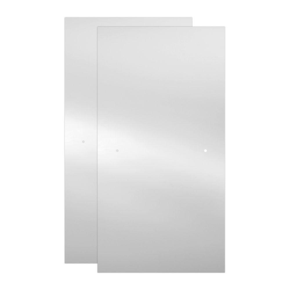 60 in. x 55 in. Semi-Frameless Sliding Bathtub Door 3/8 in.