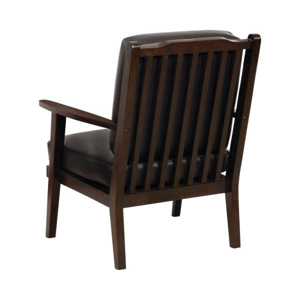 Awesome Furniture Of America Arnette Black Leatherette Armchair Idf Customarchery Wood Chair Design Ideas Customarcherynet
