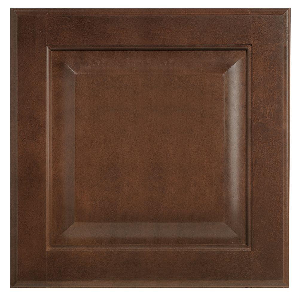 12.75x12.75 in. Cabinet Door Sample in Hampton Cognac