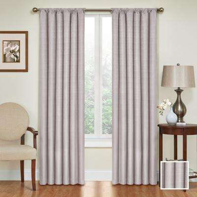 Kendall 95 in. L Polyester Curtain in Grey
