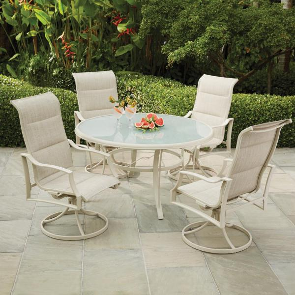 Hampton Bay Mix And Match Square Metal Outdoor Dining