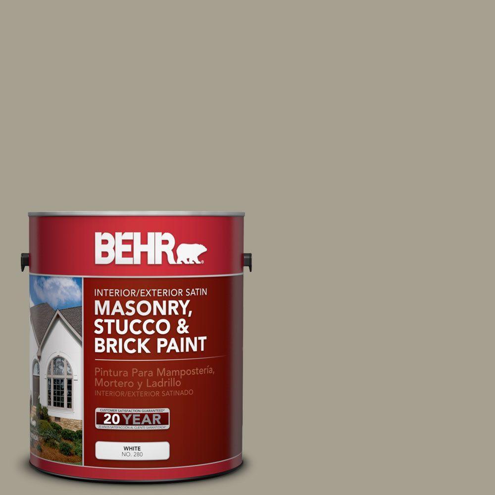 1-gal. #MS-52 Timber Satin Interior/Exterior Masonry, Stucco and Brick Paint