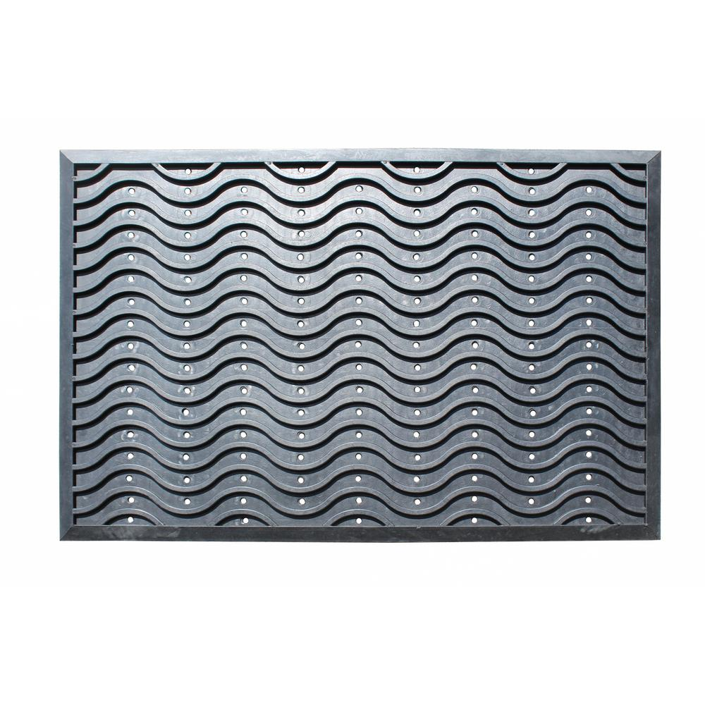 Wave Scraper Durable Anti Fatigue 60 in. x 36 in. Commercial Rubber ...