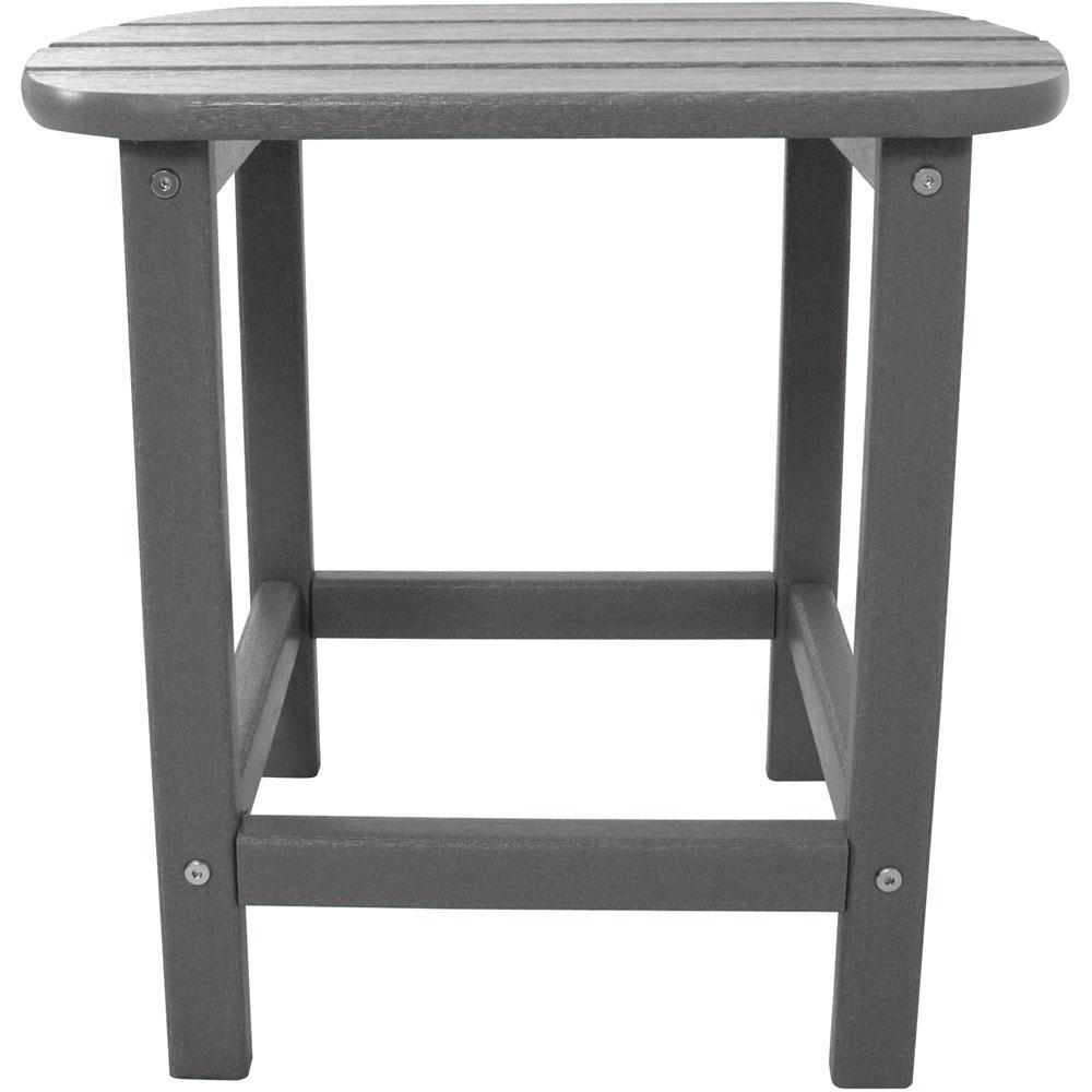 Grey All-Weather Patio Side Table