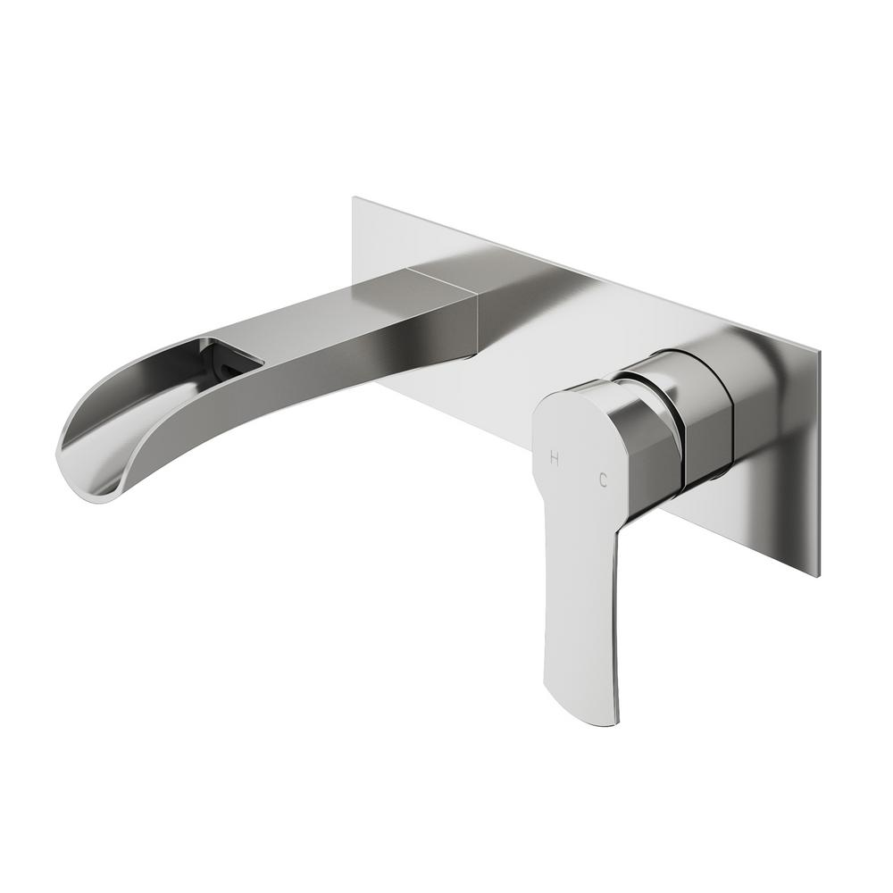 Vigo Cornelius Single Handle Wall Mount Bathroom Faucet In