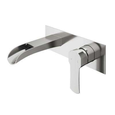Cornelius Single-Handle Wall Mount Bathroom Faucet in Brushed Nickel