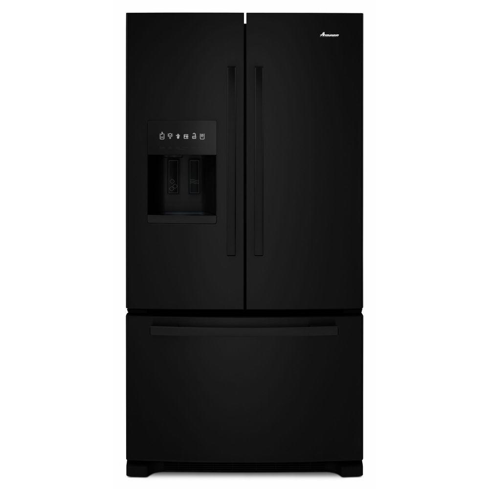 24.7 cu. ft. French Door Refrigerator in Black
