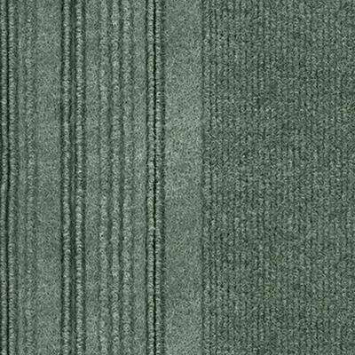 First Impressions Barcode Rib Olive Texture 24 in. x 24 in. Carpet Tile (15 Tiles/60 sq. ft./case)