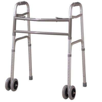 Bariatric 2-Button Folding Walker