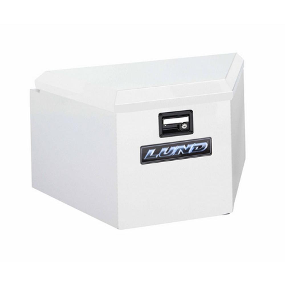 34 White Aluminum  Trailer Tongue Truck Tool Box