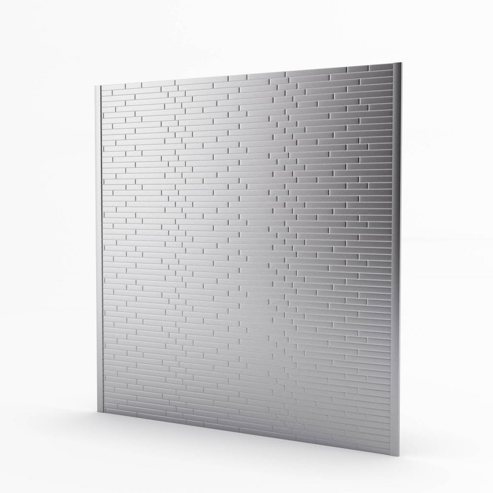 Linox Stainless 29.61 in. x 30.75 in. x 5mm Metal Self-Adhesive Range Backsplash Mosaic Tile (6.33 sq. ft.)