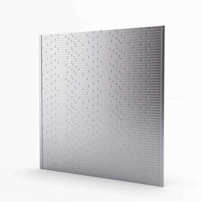 Linox Stainless 29.61 in. x 30.75 in. x 5mm Metal Self-Adhesive Range Backsplash Mosaic Tile (6.33 sq. ft.)