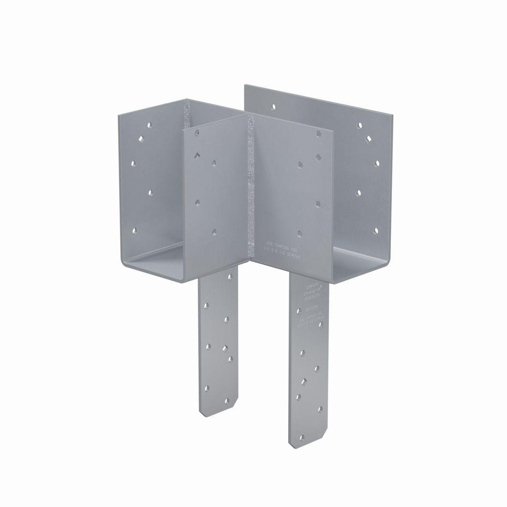 4 in. x 6 in. 7-Gauge Left End Column Cap with SDS Screws