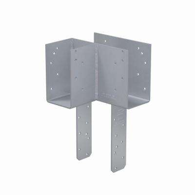 ECCLLQ L-Shape End Column Cap for 4x Post, 6x Beams w/ SDS Screws, Skewed Left
