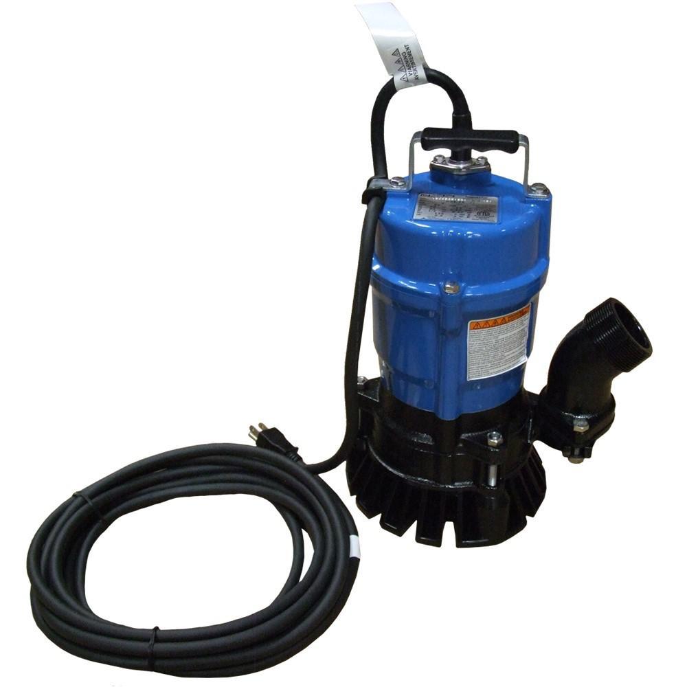 1//2 HP 2 Tsurumi HS2.4S-62 Semi-Vortex Submersible Trash Pump with Agitator