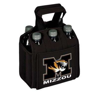 University of Missouri Tigers 6-Bottles Black Beverage Carrier