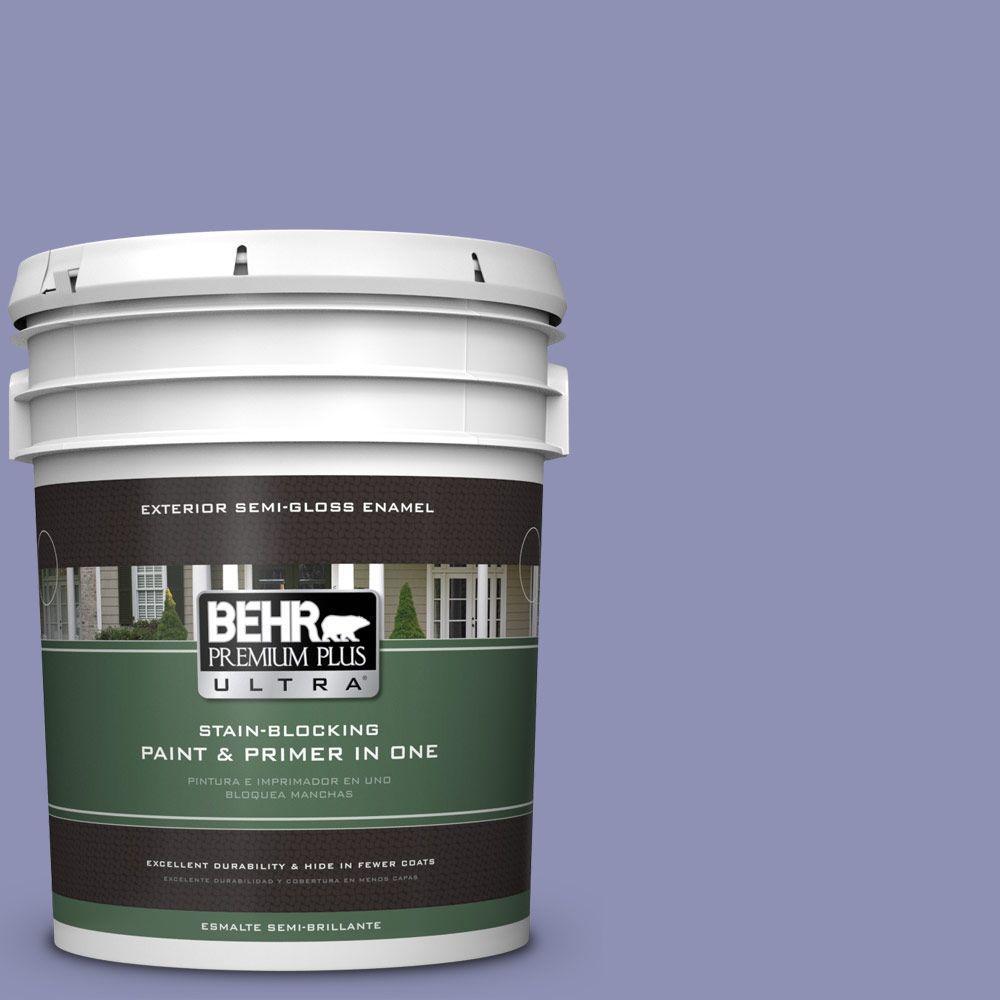 BEHR Premium Plus Ultra 5-gal. #630D-5 Wild Wisteria Semi-Gloss Enamel Exterior Paint