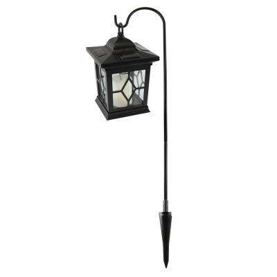 Solar Lantern and Shepherds Hook Black (Set of 1)