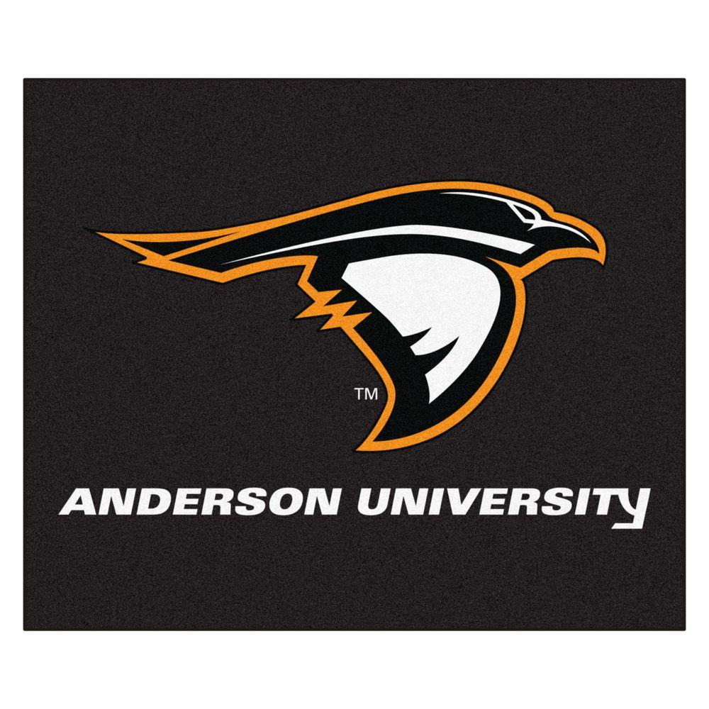 NCAA Anderson University Black 5 ft. x 6 ft. Area Rug