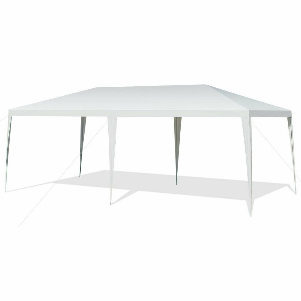 Wedding With White Tent: Costway 20 Ft. X 10 Ft. Outdoor White Party Wedding Event