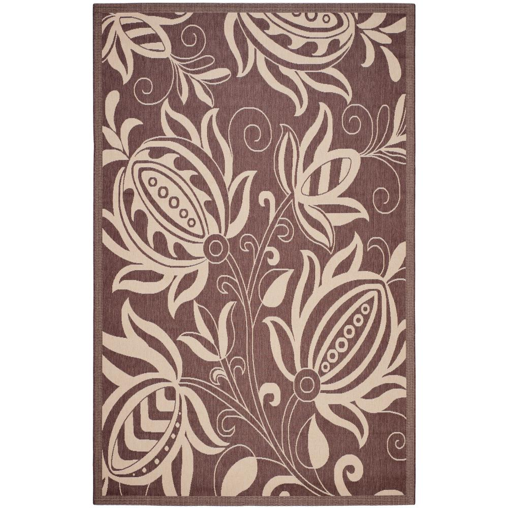 Courtyard Chocolate/Natural 5 ft. 3 in. x 7 ft. 7 in.