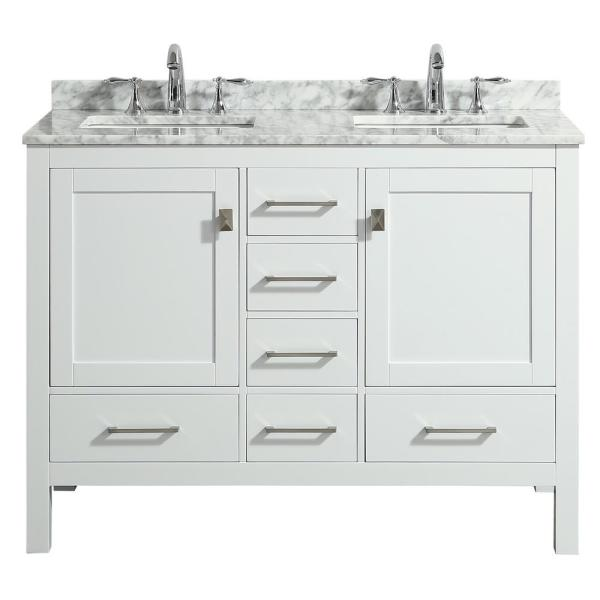 Transitional White Bathroom Vanity