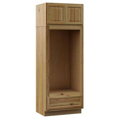 Hampton Assembled 33x90x24 in. Double Oven Kitchen Cabinet in Natural Hickory