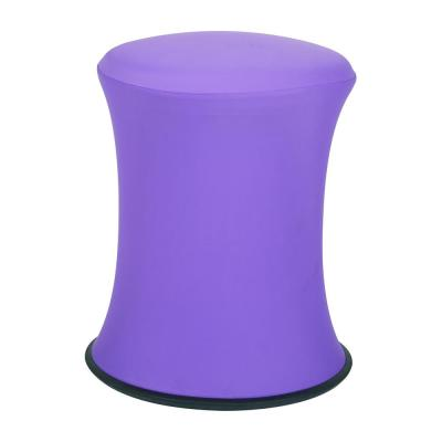"18""-26"" Active Height Stool with White Frame and Purple Fabric"