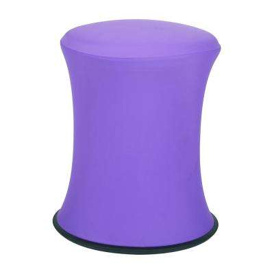 """18""""-26"""" Active Height Stool with White Frame and Purple Fabric"""