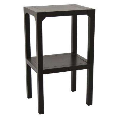 Wood Plant Stand in Black Wood 17in L x 13in W x 28in H