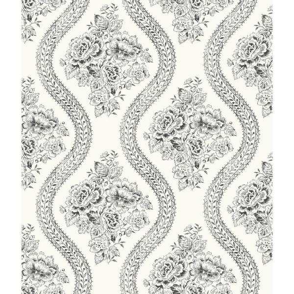 Magnolia Home by Joanna Gaines 56 sq. ft. Coverlet Floral Removable