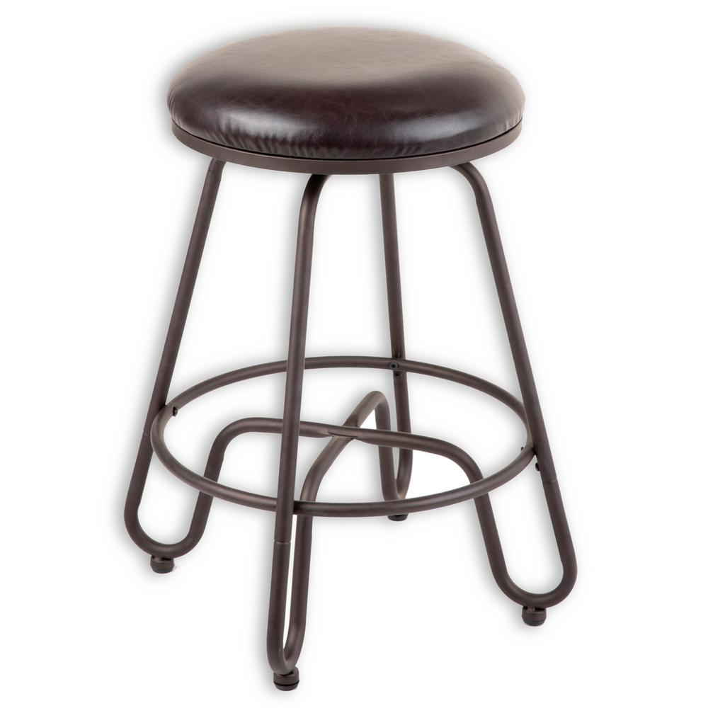 Fashion Bed Group Denver 26 In Metal Counter Stool With Backless