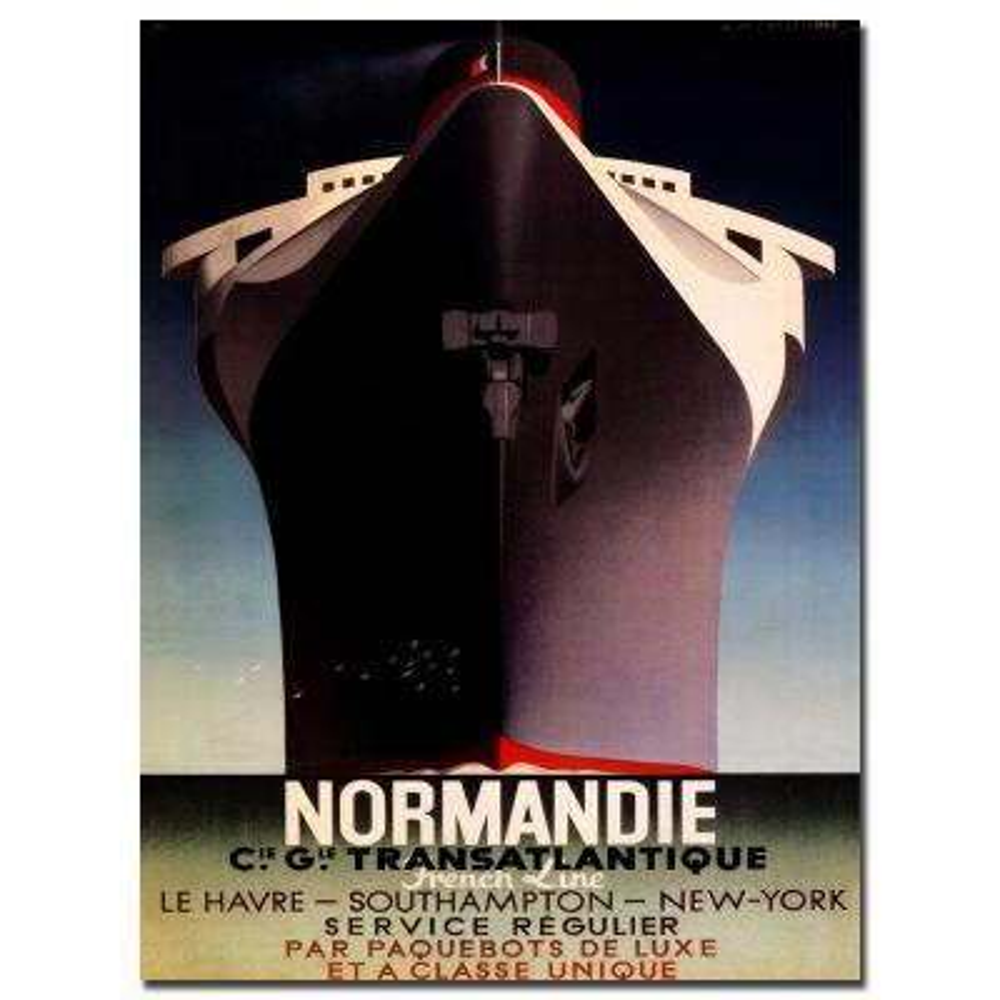 "28 in. x 47 in. ""Normandie"" Canvas Art"