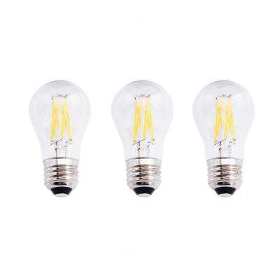 60-Watt Equivalent A15 Dimmable Clear Filament Vintage Style LED Light Bulb, Soft White (3-Pack)